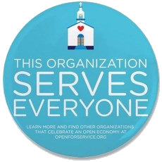 Open for Service - This organization serves everyone.